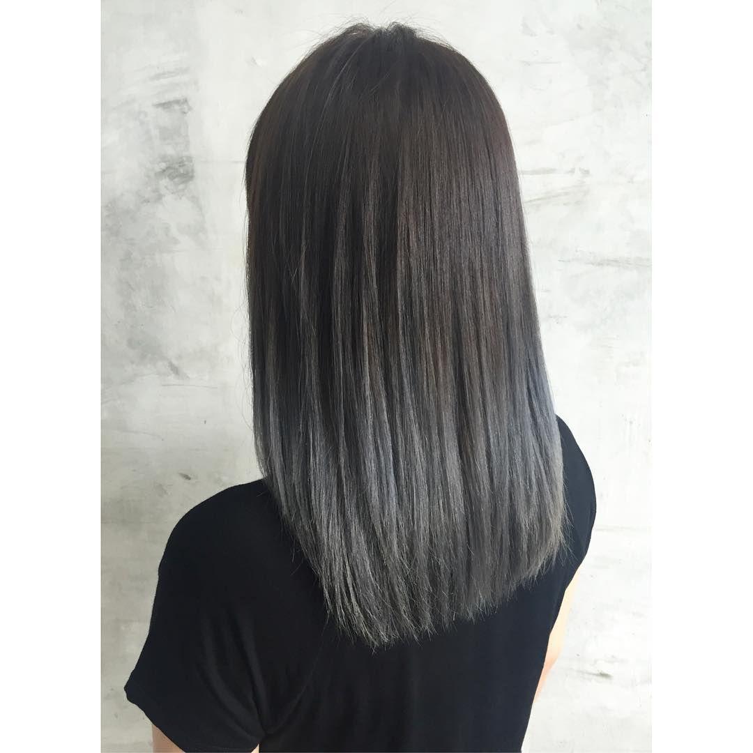 Ombre Grau - Haare Grau färben mit Ombre Look