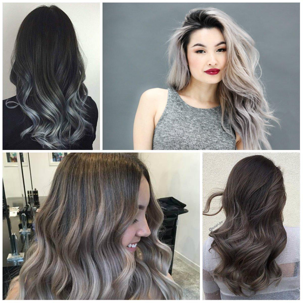 Dunkelblonde Haare mit Ombre Grau färben