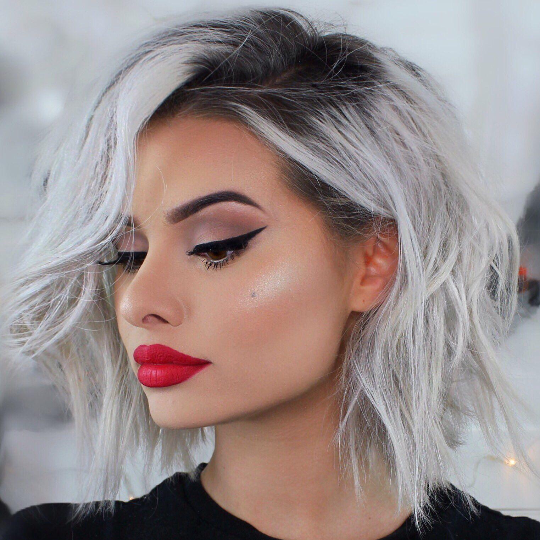 Granny Hair - Ombre Grau für kurze Haare