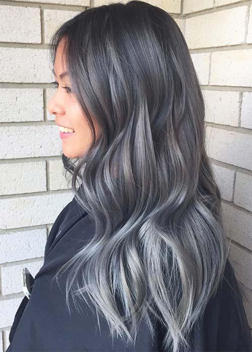 Ombre Haare - Haare Grau färben mit Ombre Look