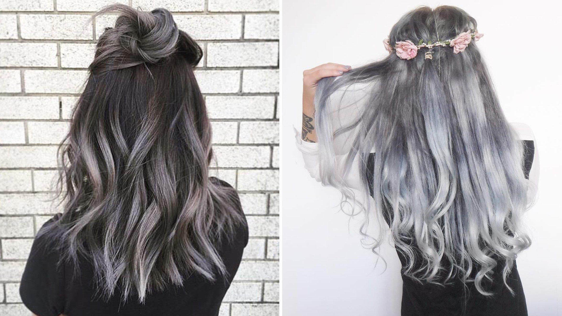 Ombre Grau - Der neue Trend für dunkelblonde Haare