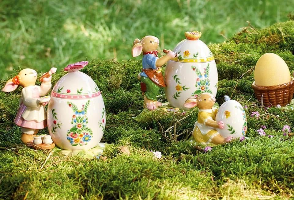Osterdeko Garten: Figuren aus Porzellan