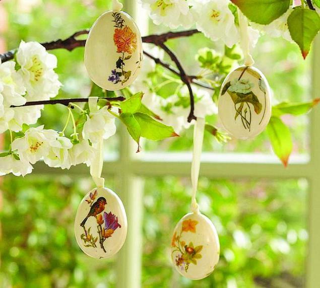 Osterdeko Garten: Schön gemalte Eier