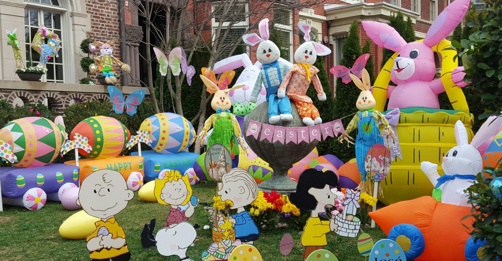 Osterdeko für den Garten für ein Kinderparty