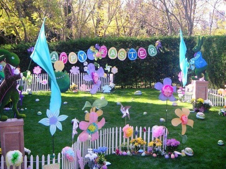 Osterdeko Garten für ein Oster Party