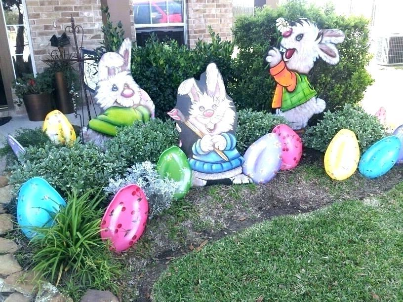 Osterdeko Garten mit Hasen mit Hasen Modellen