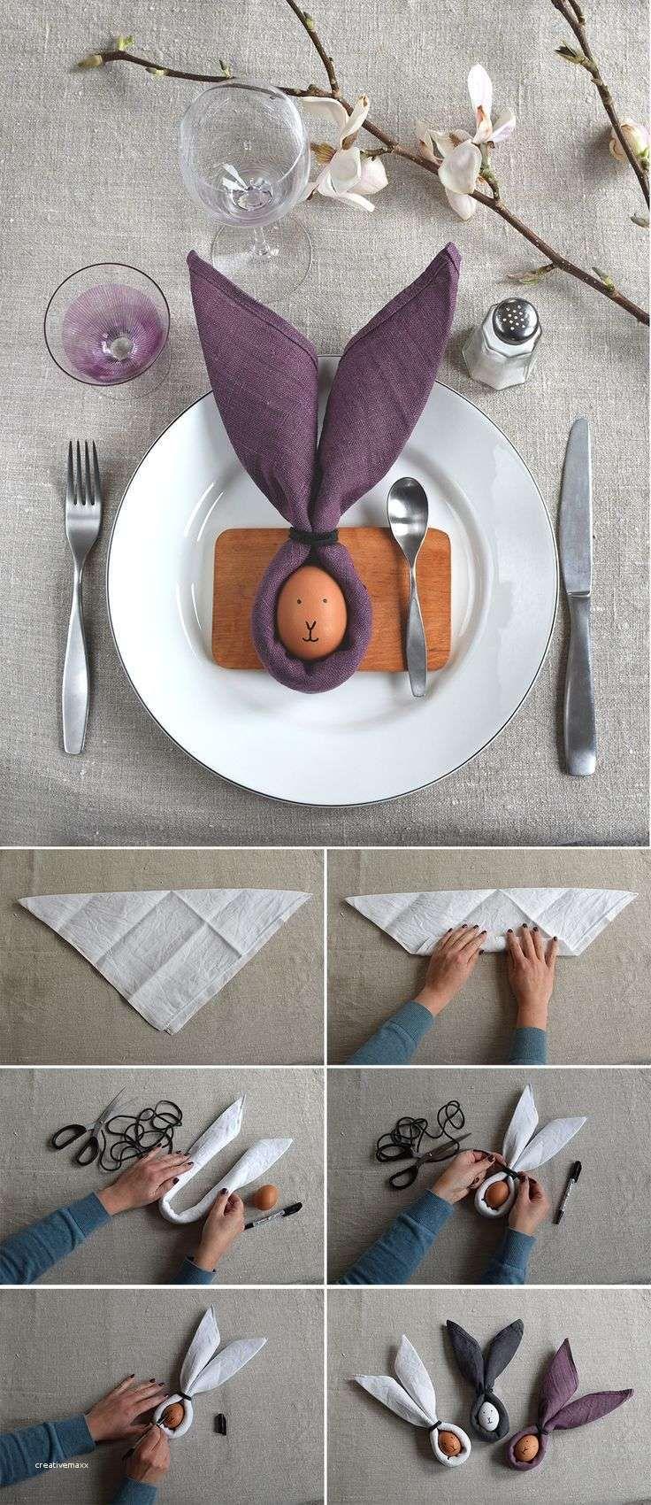 Tischdeko Ostern - Servietten falten