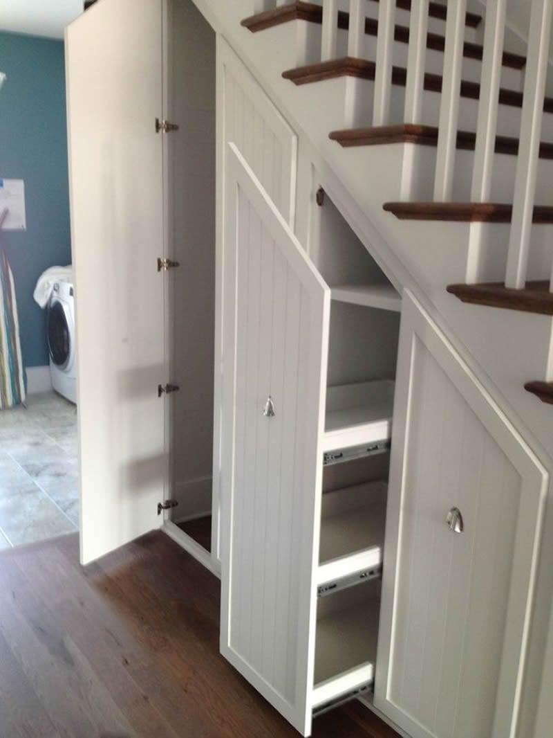 Schrank Treppe ausziehbar modernes Design