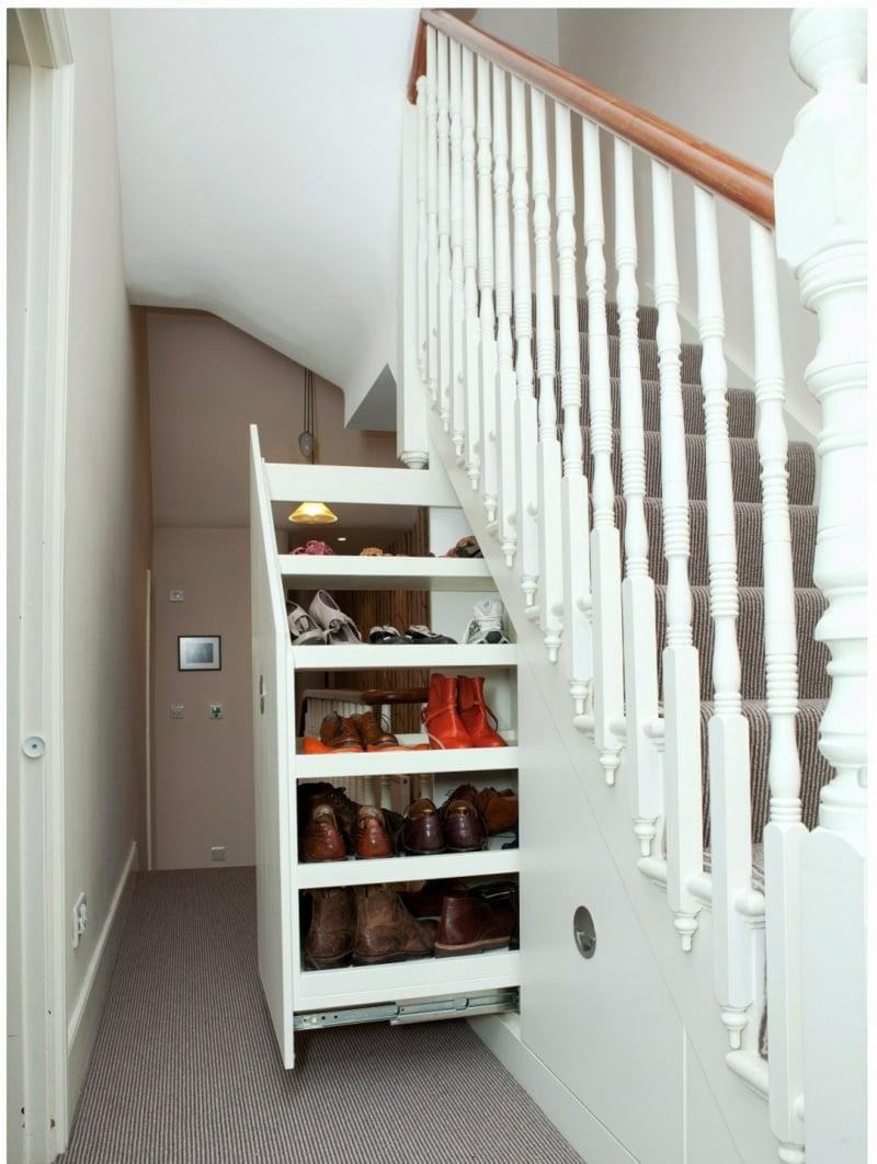 Schrank unter Treppe modern ausziehbar