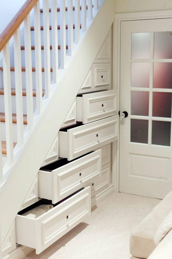 Schrank unter Treppe einzelne Schubladen