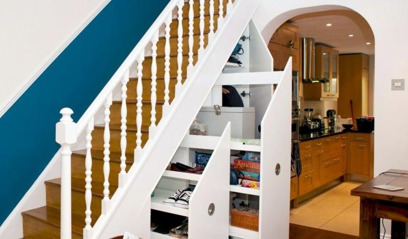 Schrank unter Treppe Stauraum Schuhe ausziehbar