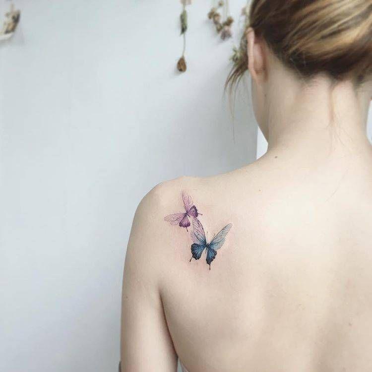 Tattoo Schulterblatt Schmetterling Tattoo