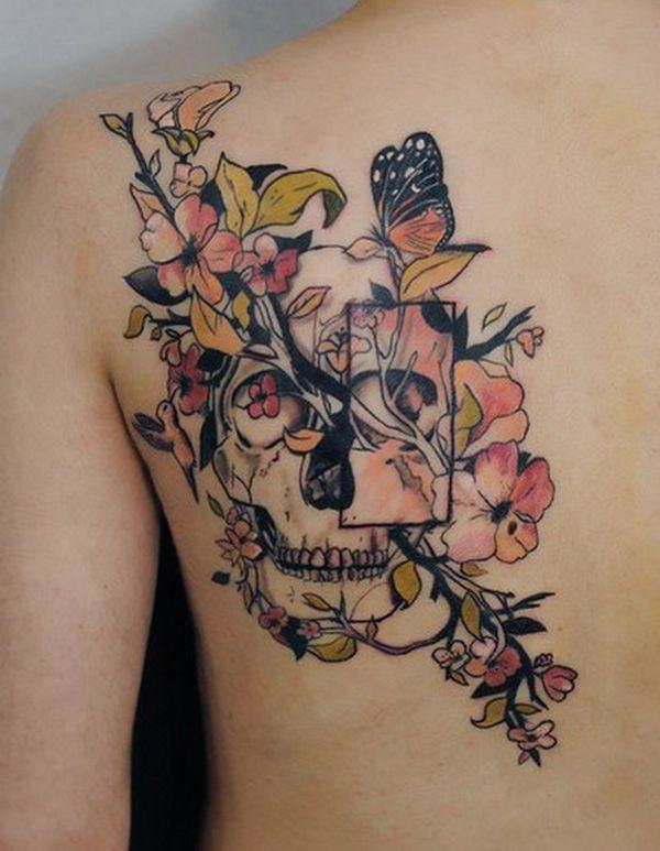 Farbige Tattoo Schulterblatt Tattoo Ideen Frauen