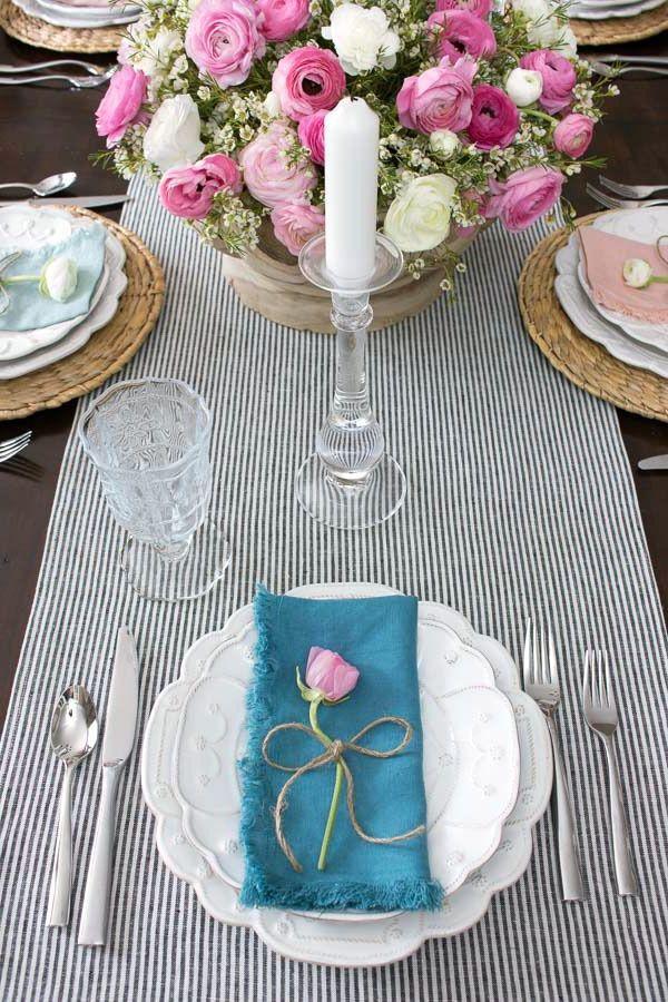 Tischdeko Frühling mit schönen Details