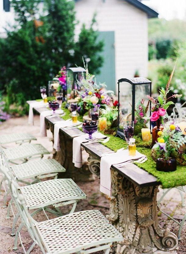 Tischdeko Frühling mit Vintage Nuancen
