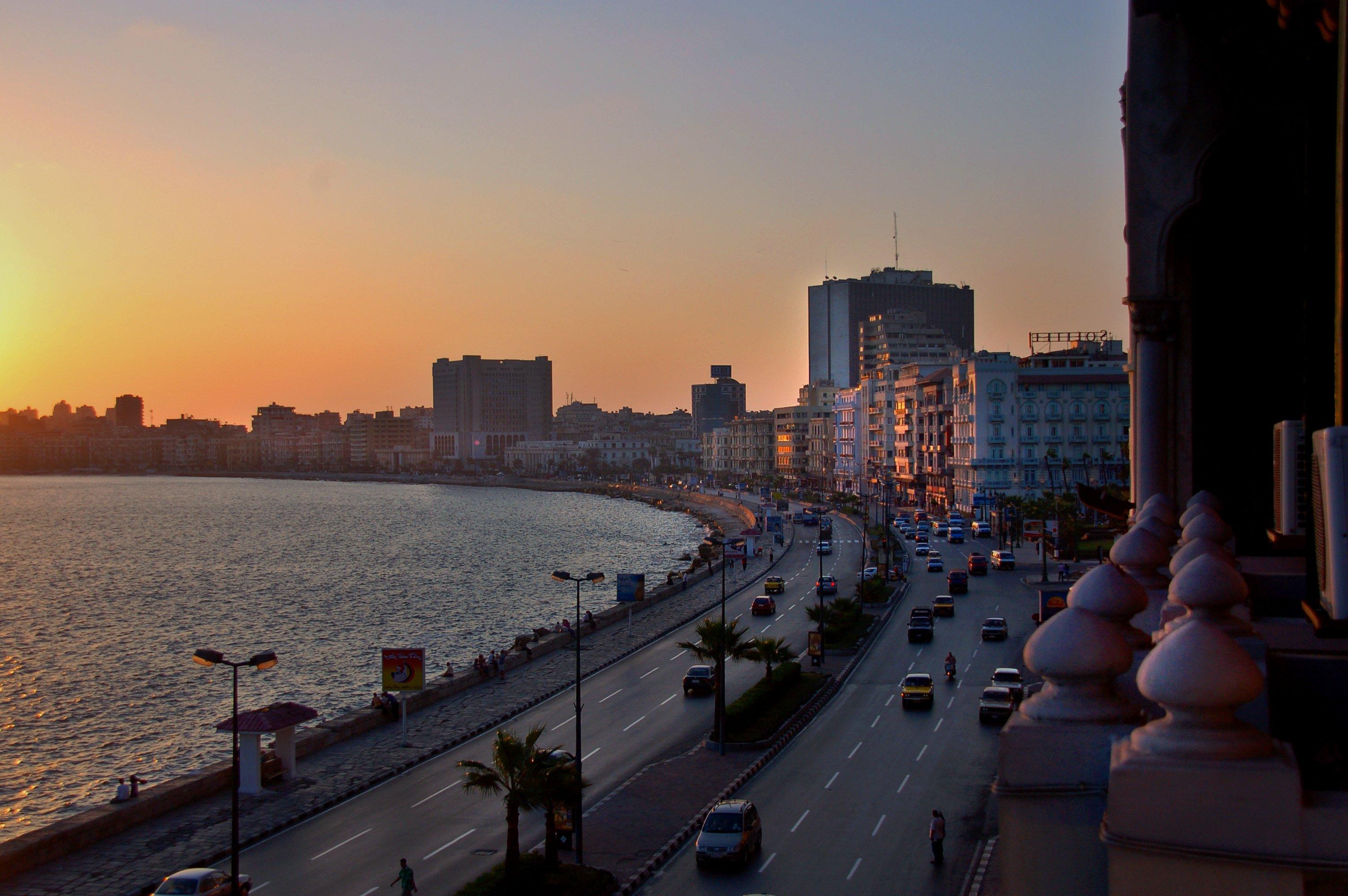 Urlaub in Ägypten: Sonnenuntergang in Kairo