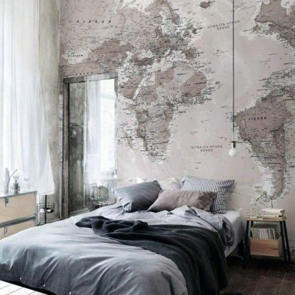 Fototapeten: Weltkarte für das Schlafzimmer