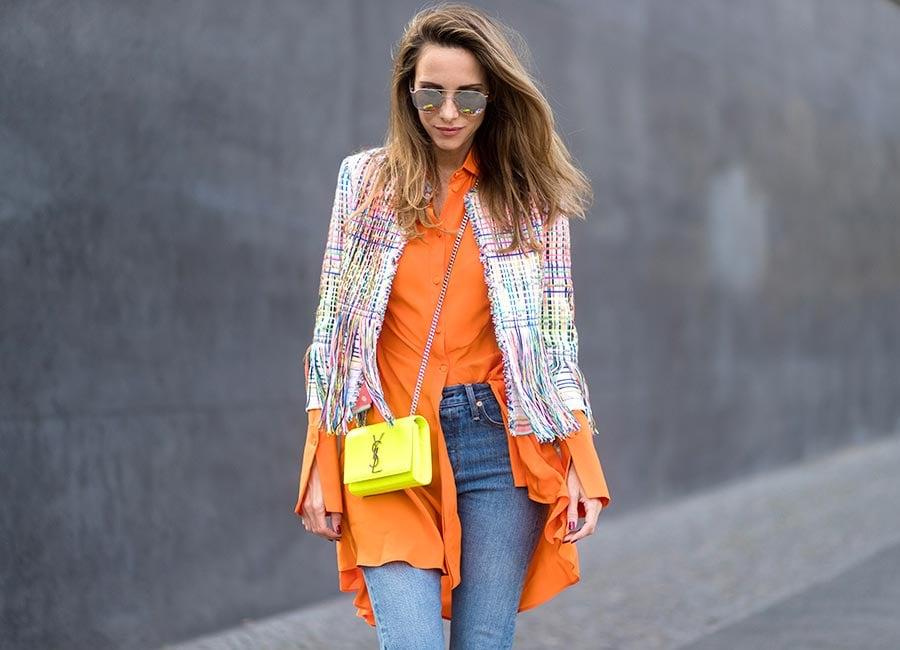 Hemd Orange knallig Frau