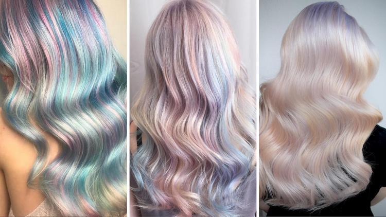 Opal Haare Pastellfarben