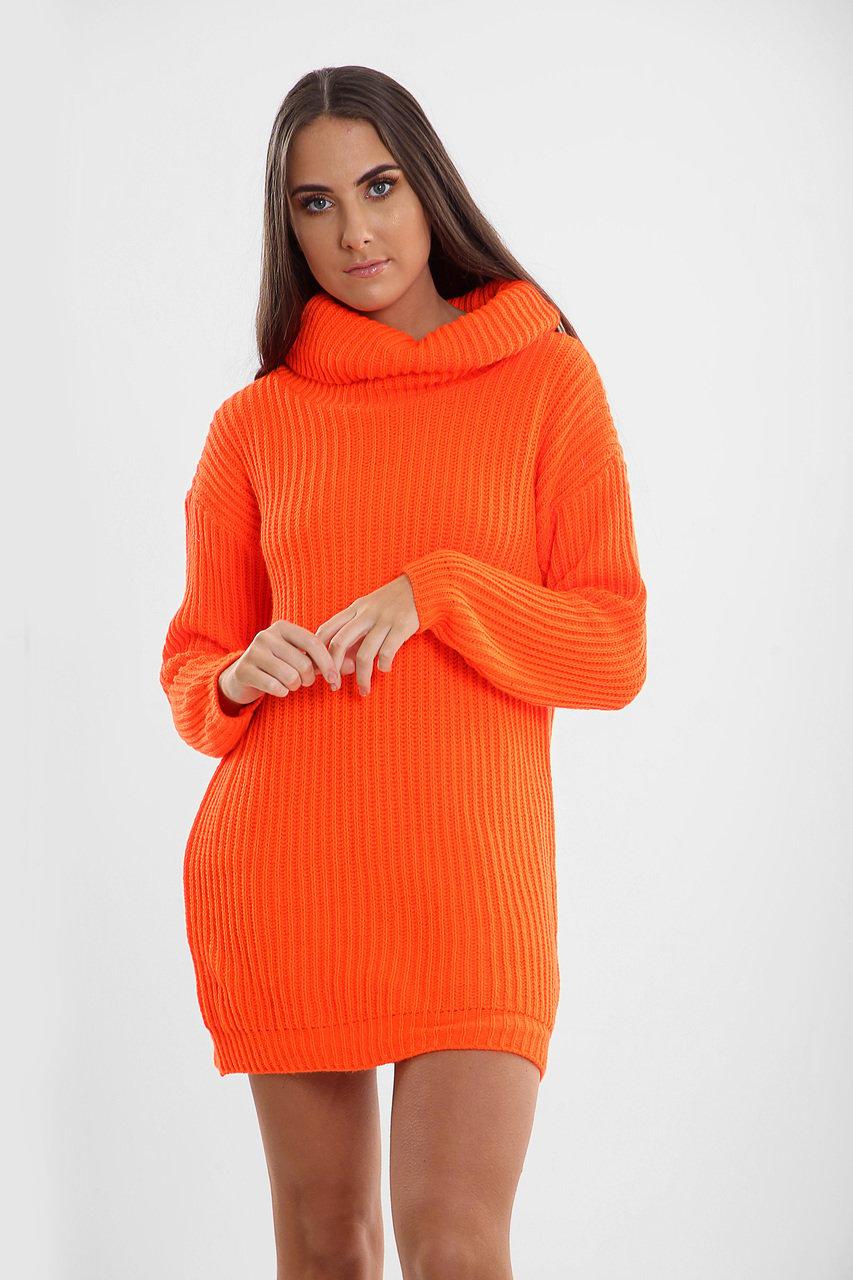 Winterpullover Orange knallig