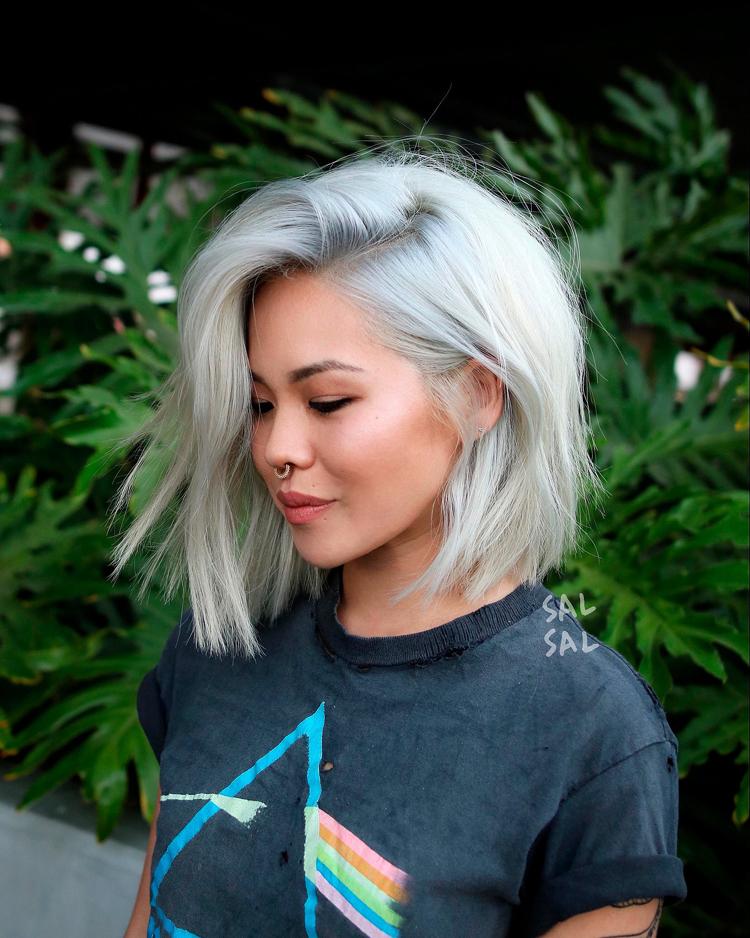 Haarfarben Trends 2019 Schneehasenblond