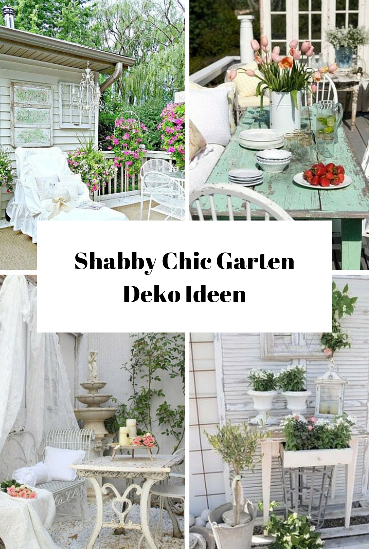Shabby Chic Garten Deko Ideen