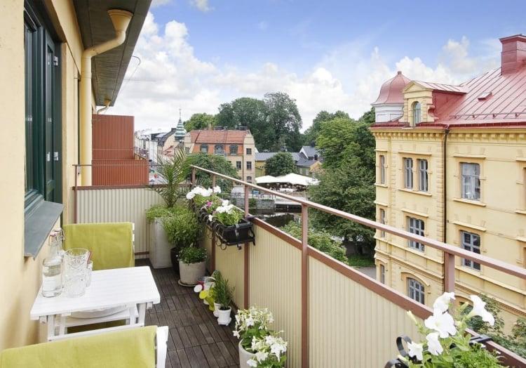 Balkonbespannung Sichtschutz Blumen