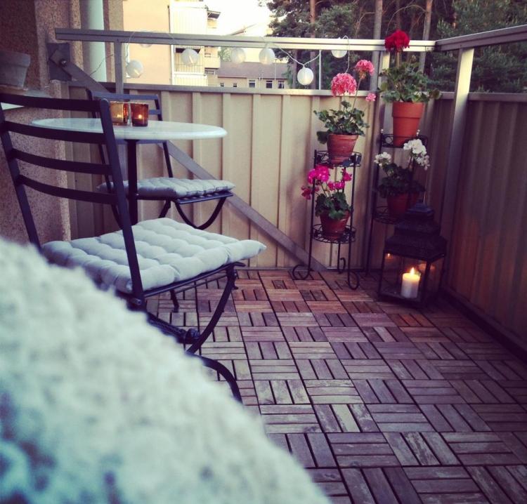 Balkon gestalten mit wenig Geld kreative Ideen