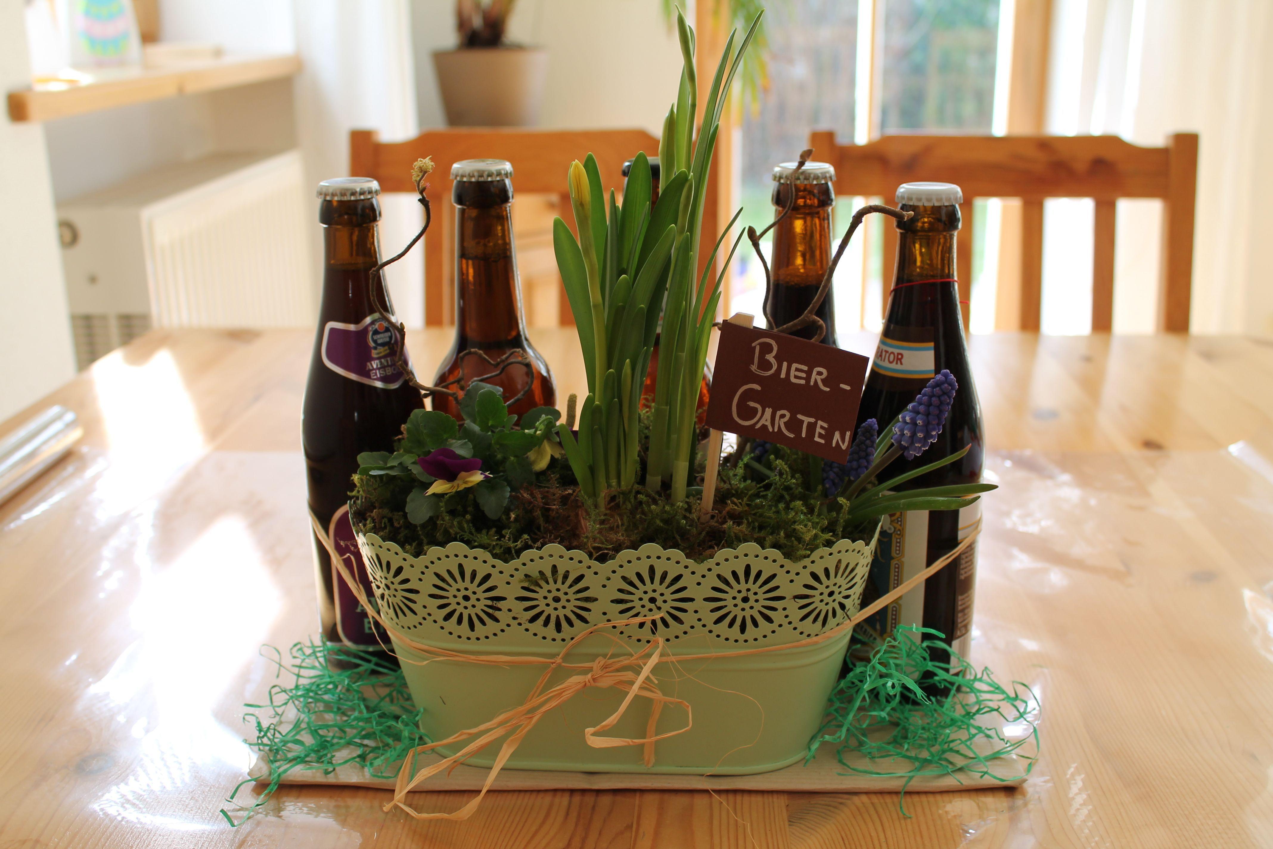 Biergarten basteln - Geschenkideen für Männer