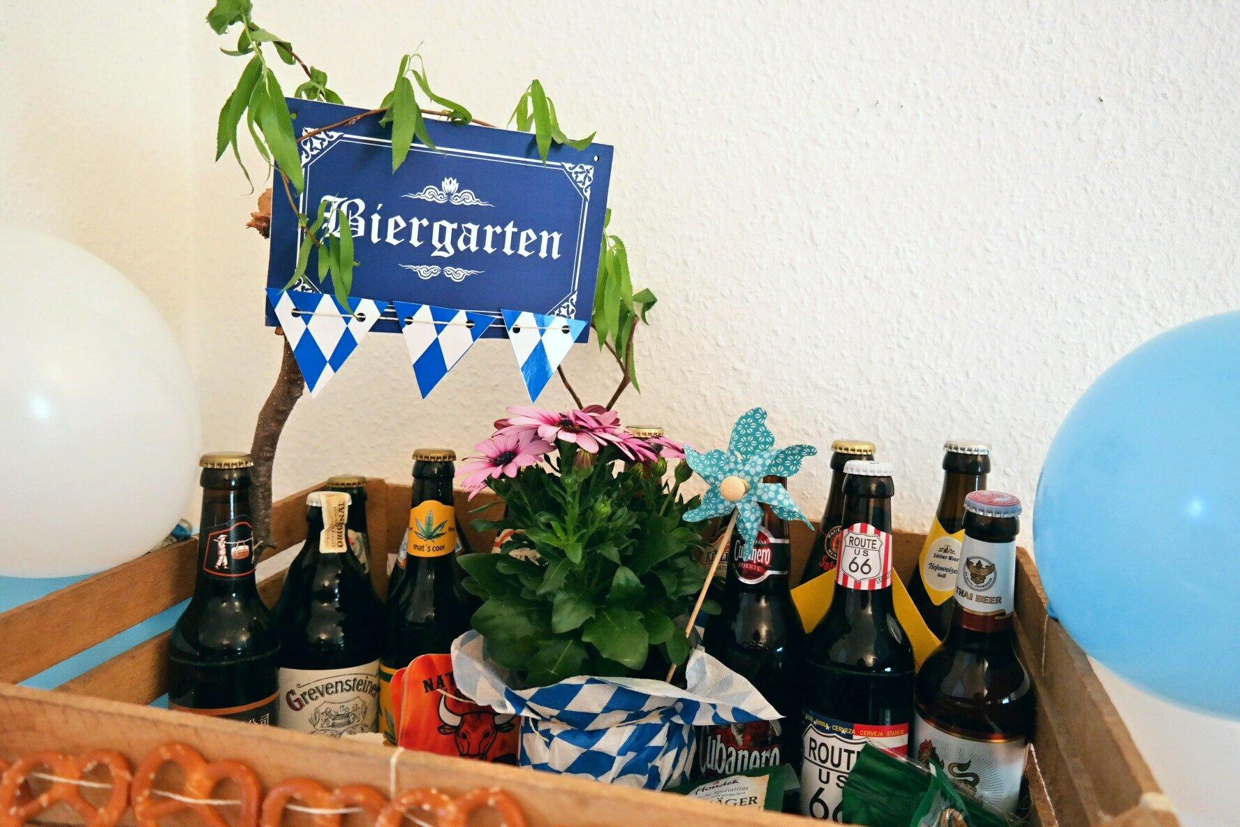 Geburtstagsgeschenk Mann - DIY Biergarten basteln