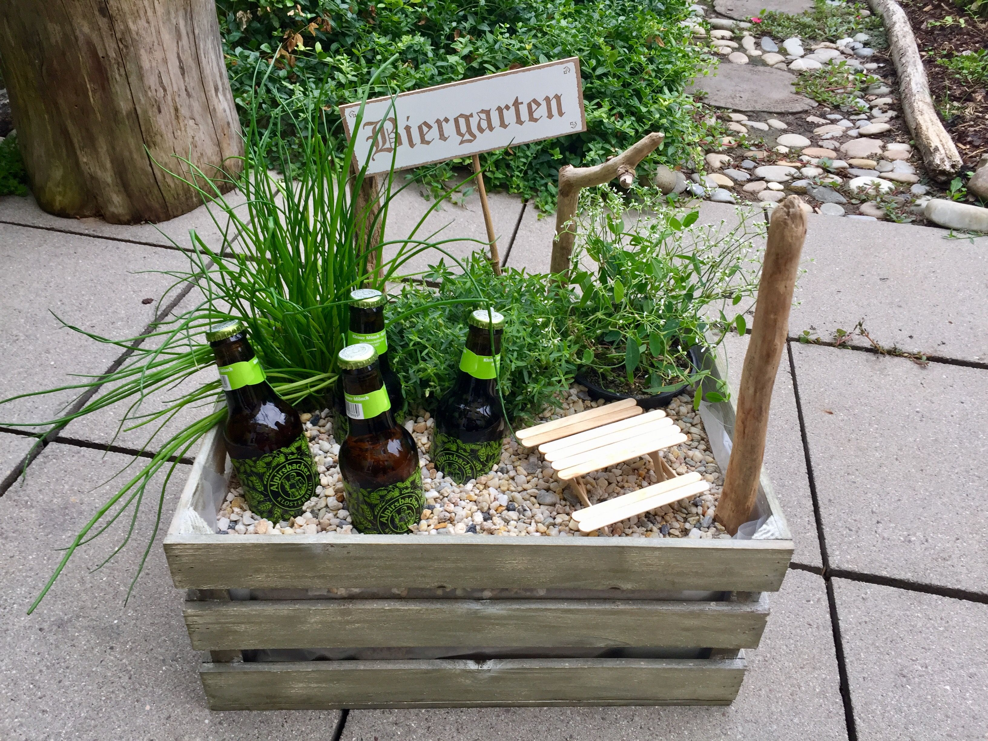 Geschenkideen für Männer - Biergarten basteln Ideen
