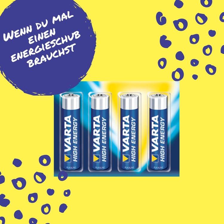 wenn du Energie brauchst Baterien