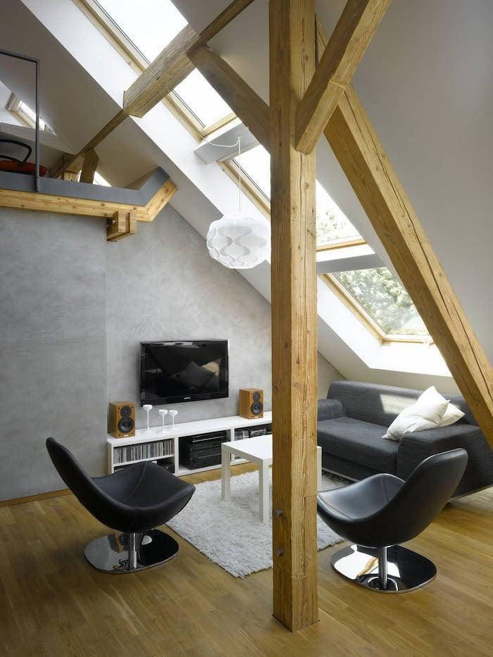 tolle Sitzecke Dachgeschoss stilvoll