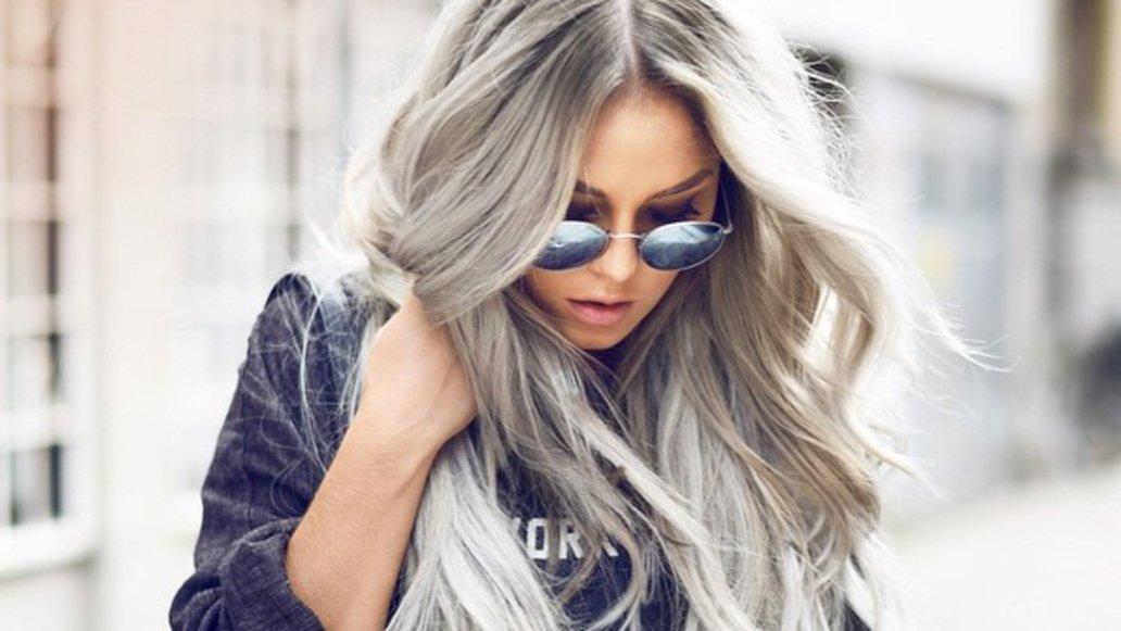 Haarfarben Trends 2019 Grau