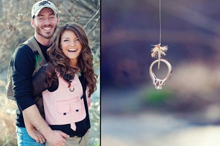 Heiratsantrag gemeinsam Angeln Überraschung