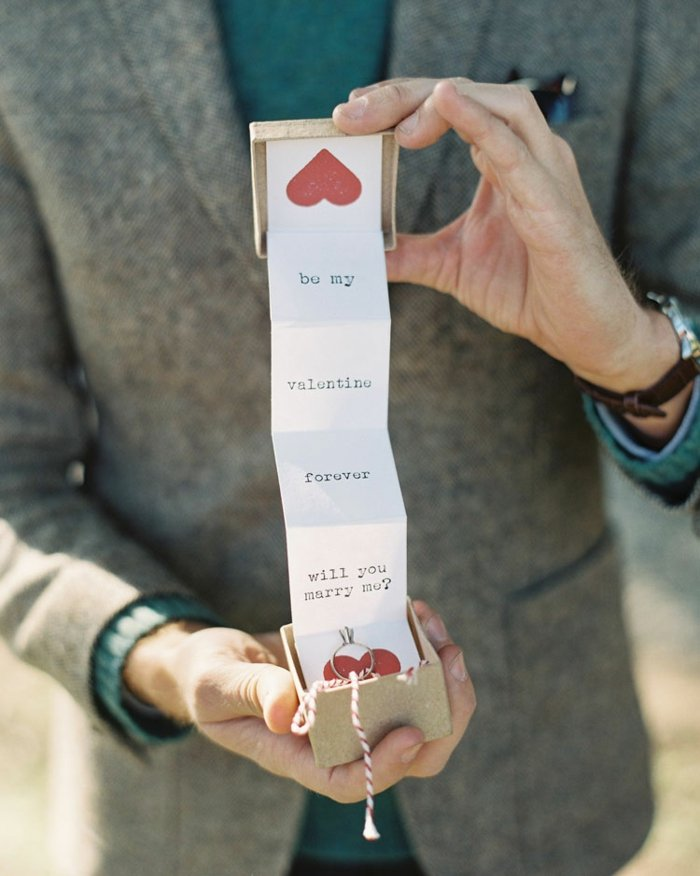 Hochzeitsantrag machen am Valentinstag