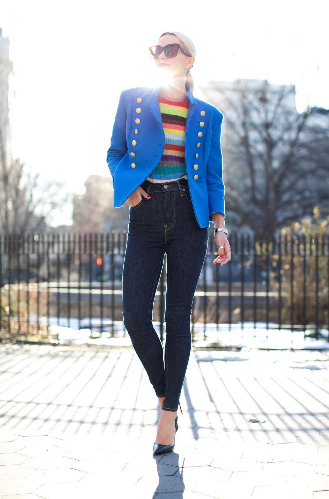 High Waist Jeans - Kasual Outfit für den Frühling