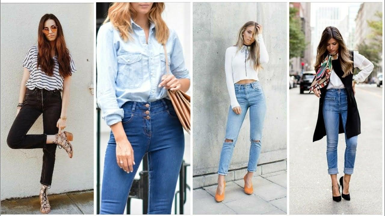 High Waist Jeans Outfit Ideen