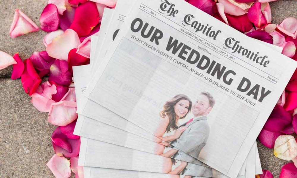 Hochzeitszeitung Ideen zum Selbermachen