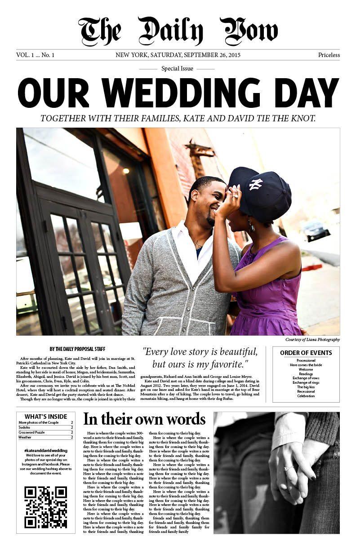 Hochzeitszeitung Ideen für die Geschichte für Liebe erzählen