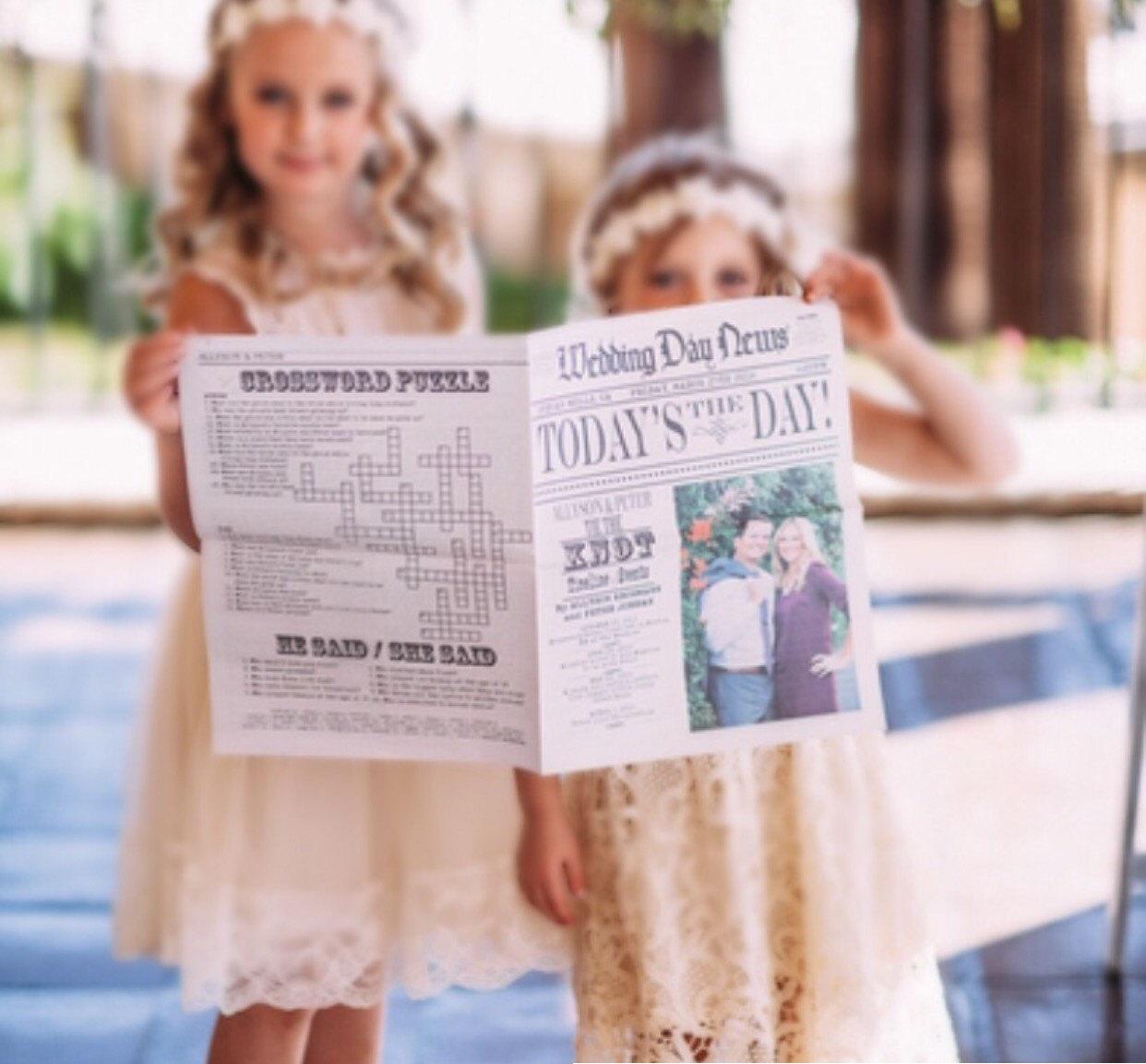 Hochzeitszeitung Ideen DIY Hochzeitsprogramm selber machen
