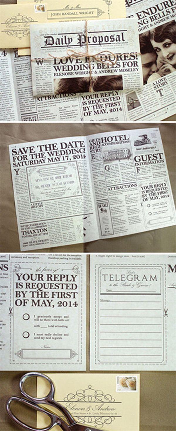 Hochzeitszeitung Ideen als DIY Ideen für Hochzeit