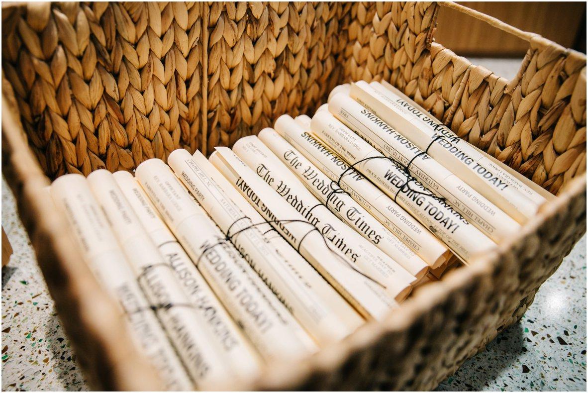 Vintage Hochzeit selber organisieren - Ideen für Hochzeitszeitung