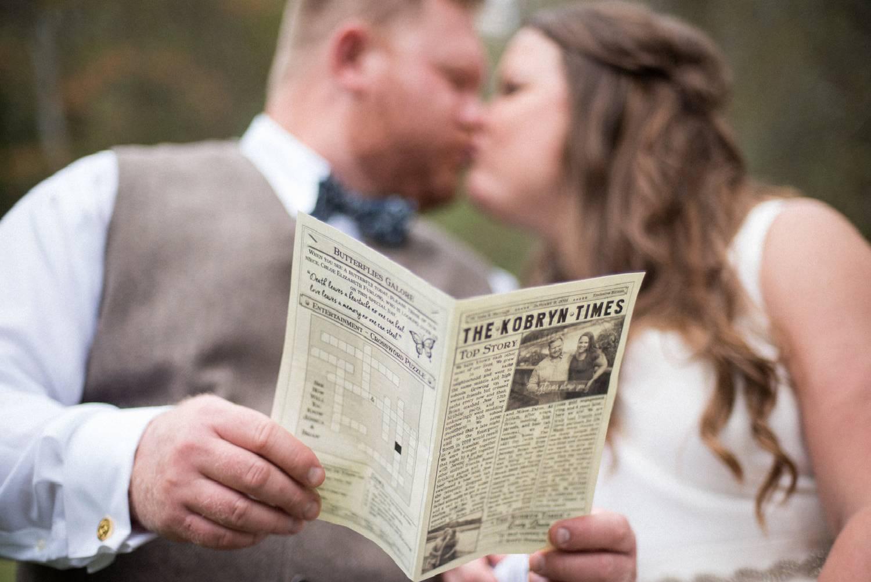 Hochzeitsprogramm selber gestalten - DIY Hochzeitszeitung Ideen