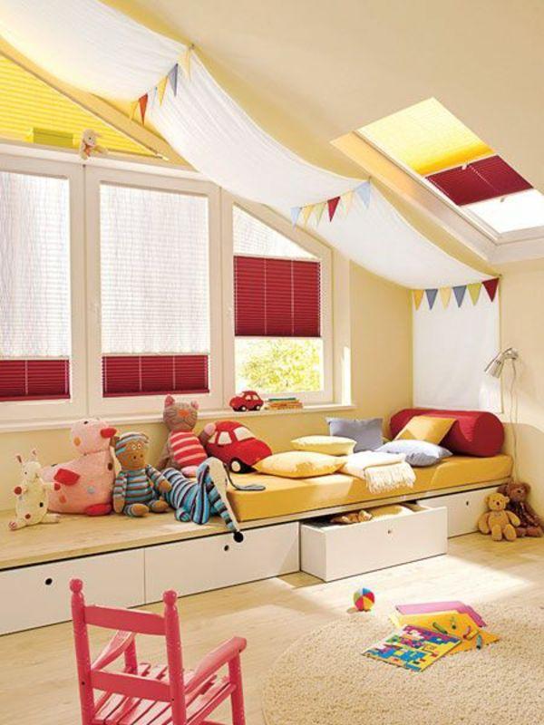 Kinderzimmer Mansarde origineller Look
