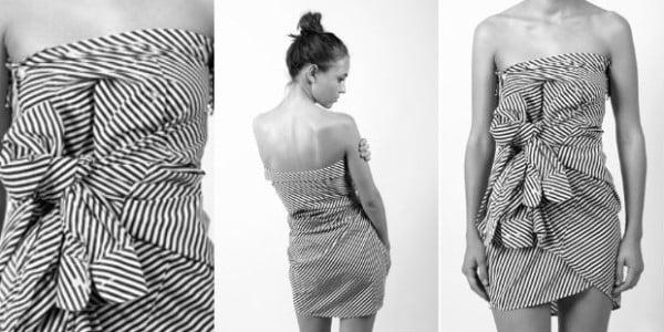 Herrenhemd als Kleid tragen tolle Idee