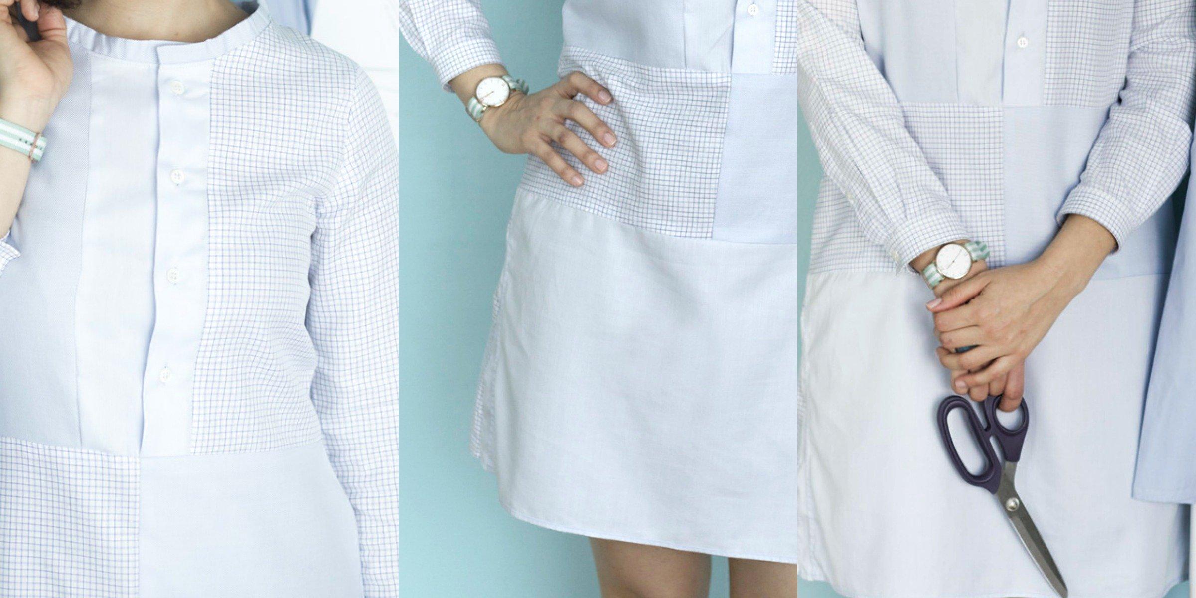 Herrenhemden in priginelle Kleider verwandeln