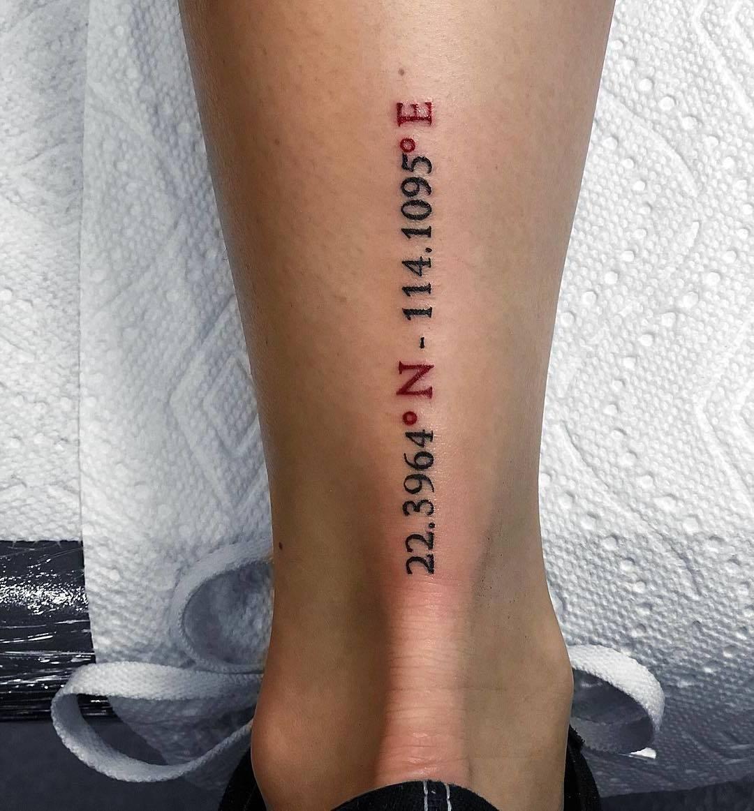 Koordinaten Tattoo Frauen Tattoo Ideen