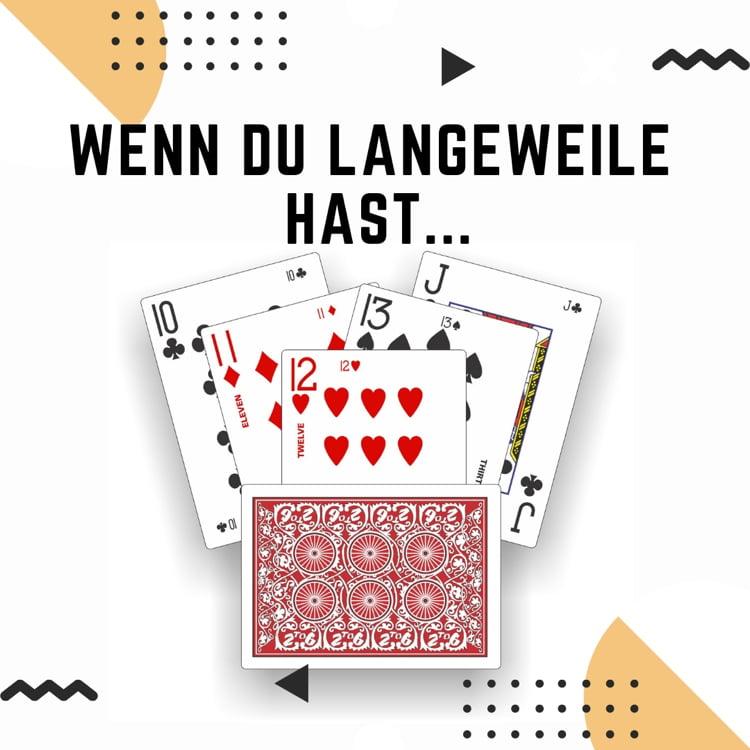 Spielkarten gegen Langeweile
