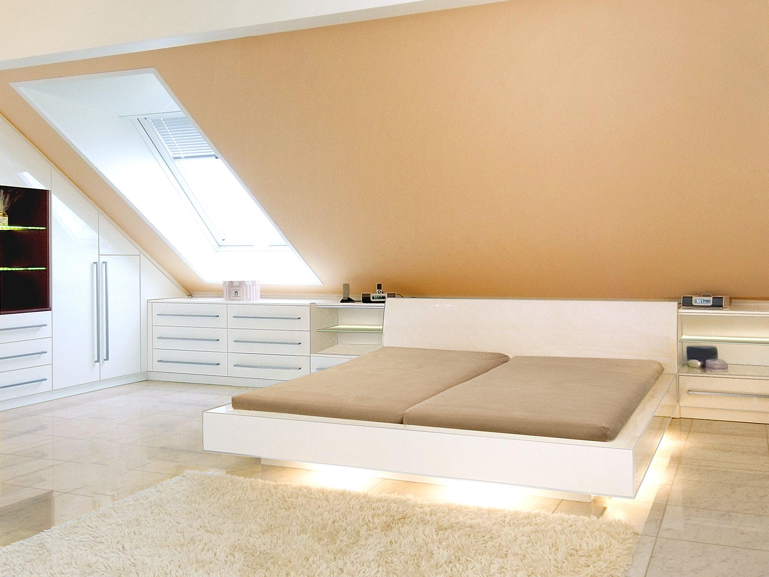Mansarde minimalistisch einrichten